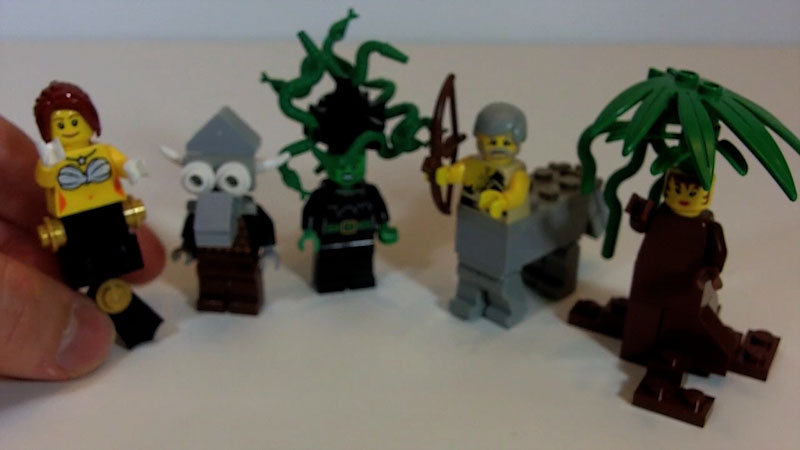 Still image from: How to Build LEGO Centaurs, Mermaids, Minotaur, Medusa and Dryad