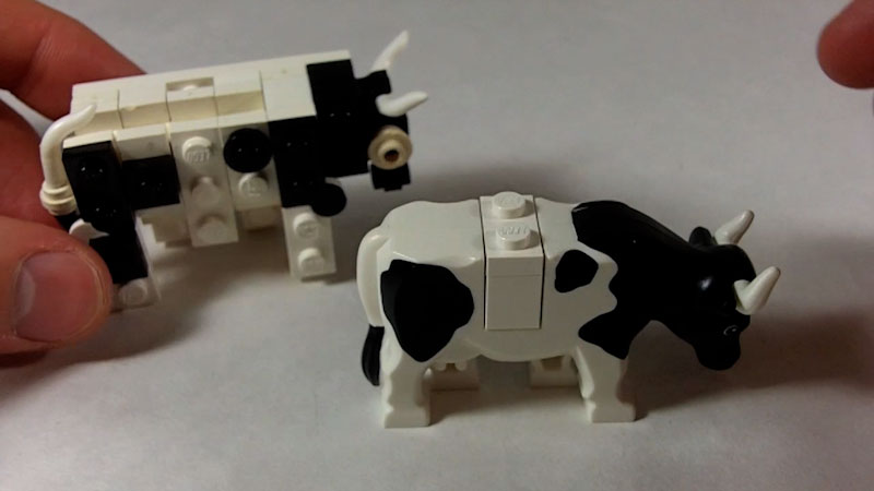 Still image from: How to Build a LEGO Cow