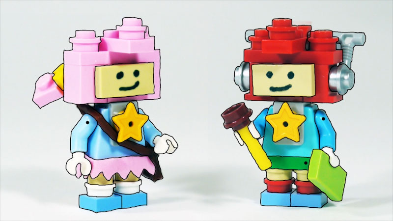 Still image from: How to Build LEGO Scribblenauts Maxwell & Lily