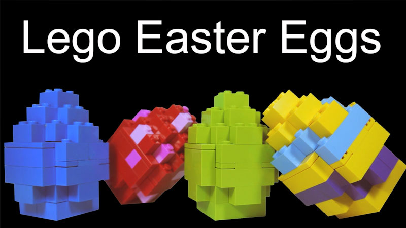 Still image from: How to Build LEGO Easter Eggs
