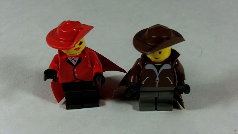 Still image from: How to Build LEGO Carmen Sandiego