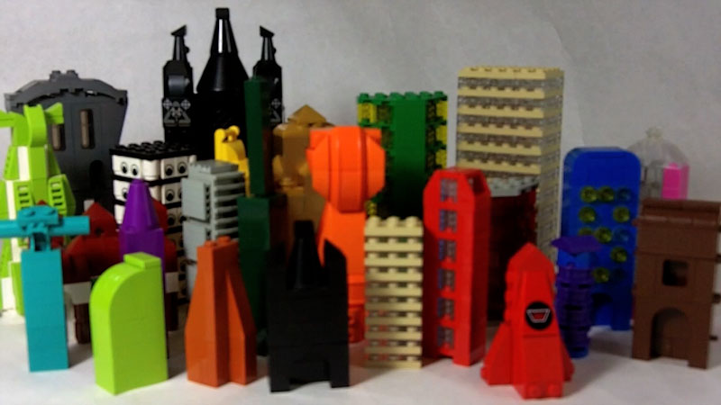 Still image from: How to Build LEGO Skyscrapers