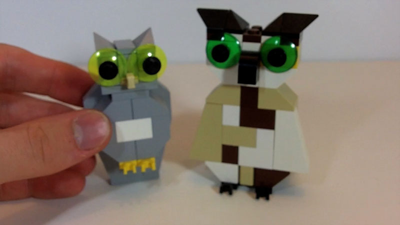 Still image from: How to Build LEGO Owls