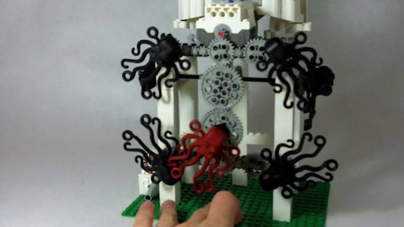 Still image from: How to Build LEGO Octopus Machine