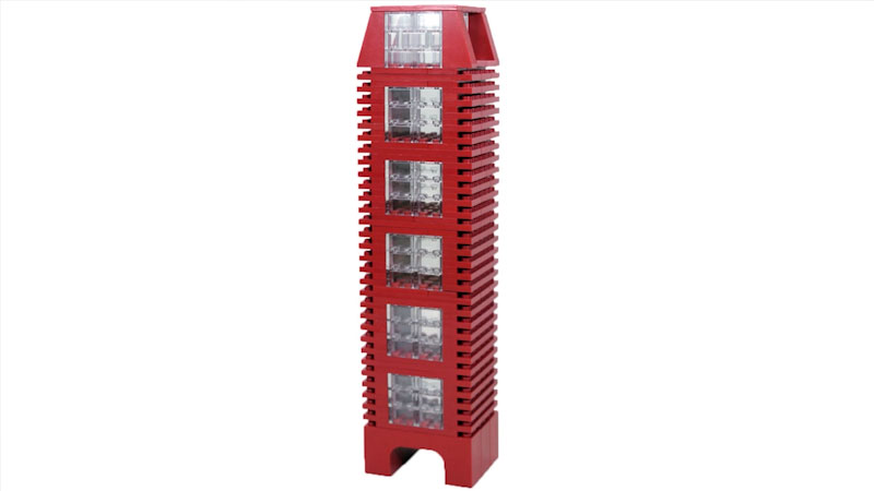 Still image from: How to Build Red LEGO Skyscraper