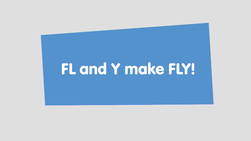 Still image from: Let's Learn: FL and Y make FLY!