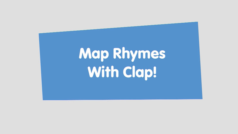 Still image from Let's Learn: Map Rhymes With Clap!
