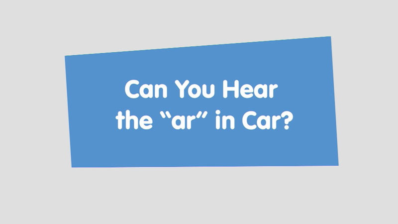 """Still image from: Let's Learn: Can You Hear the """"ar"""" in Car?"""