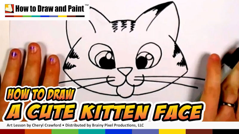 Still image from: How to Draw a Cute Kitten Face