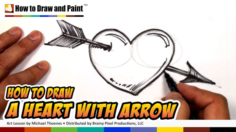 Still image from: How to Draw a Heart With an Arrow