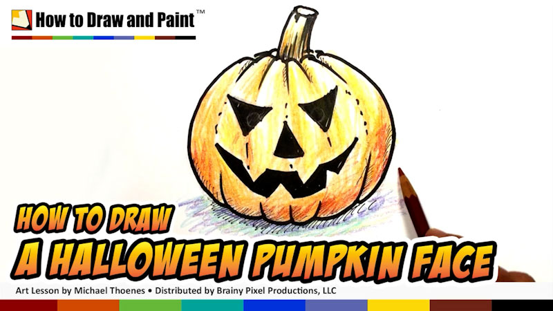 Still image from: How to Draw a Halloween Pumpkin Face