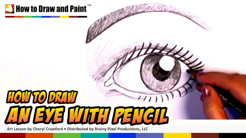 Still image from: How to Draw an Eye With Pencil