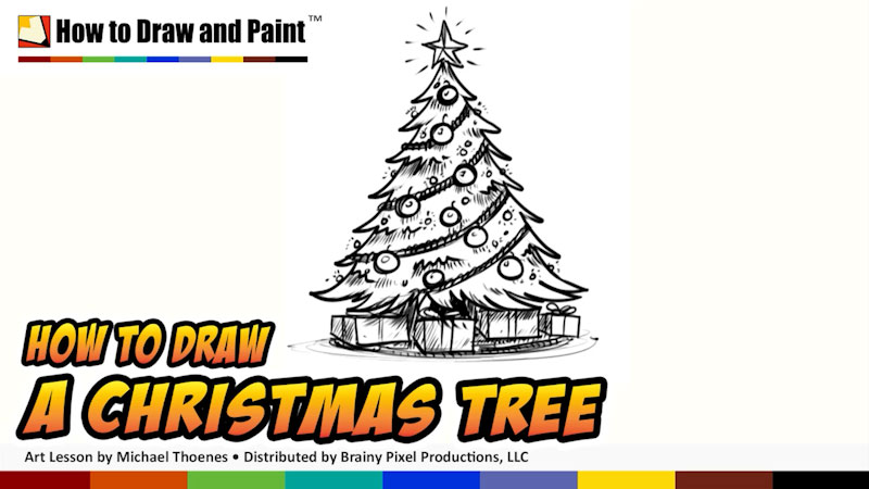 Still image from: How to Draw a Christmas Tree
