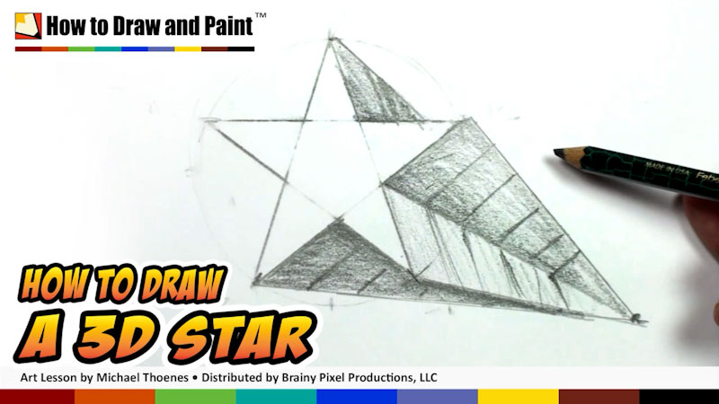 Still image from: How to Draw a 3-D Star