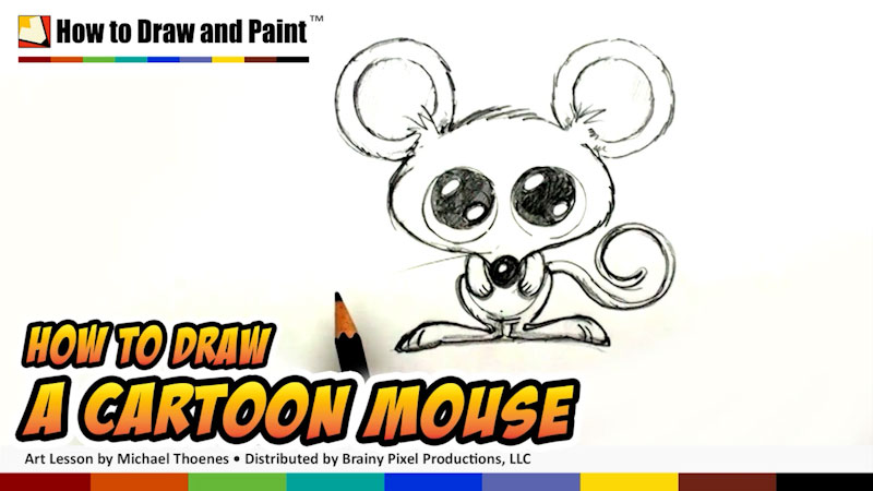 Still image from: How to Draw a Cartoon Mouse