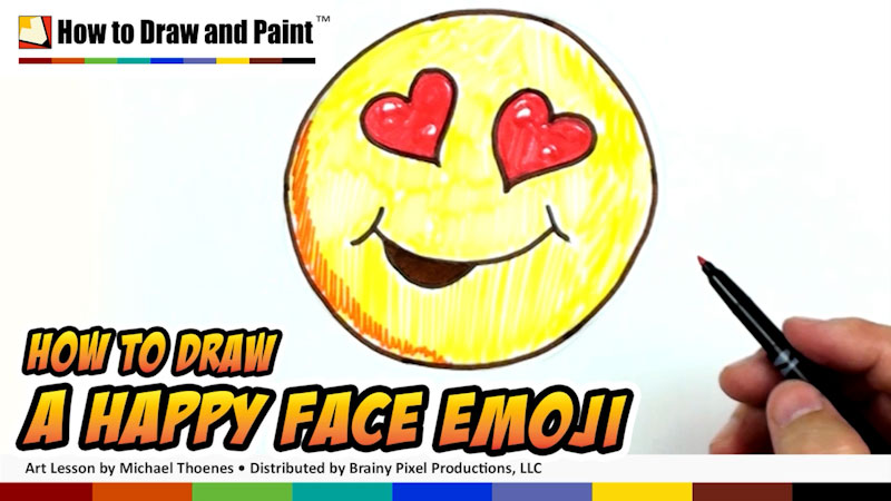 Still image from: How to Draw a Happy Face Emoji