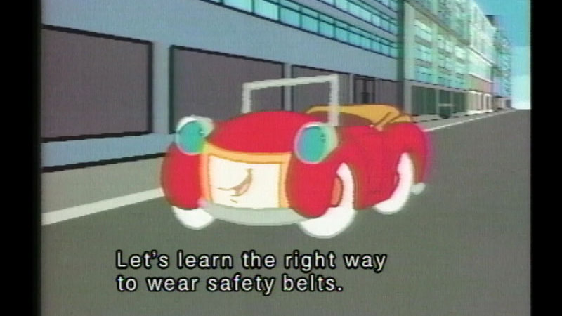 Still image from Otto the Auto on Wearing Safety Belts