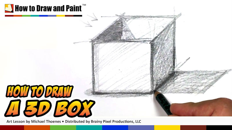 Still image from: How to Draw a 3-D Box