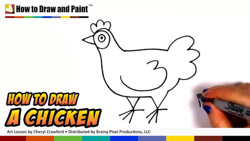 Still image from: How to Draw a Chicken