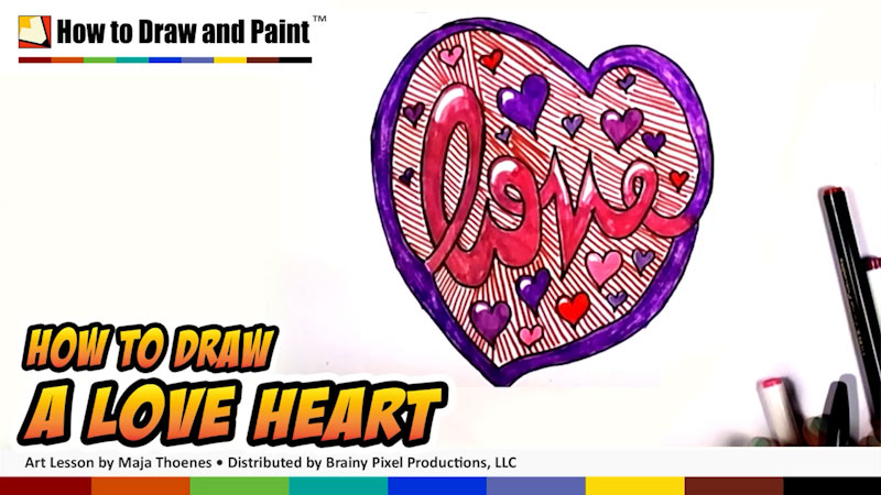 Still image from: How to Draw a Love Heart