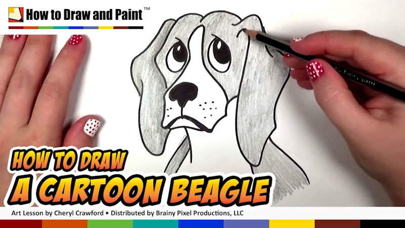 Still image from: How to Draw a Cartoon Beagle