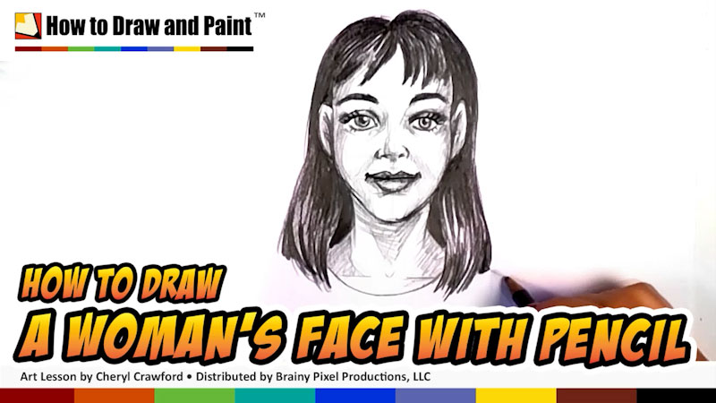 Still image from: How to Draw a Woman's Face With Pencil