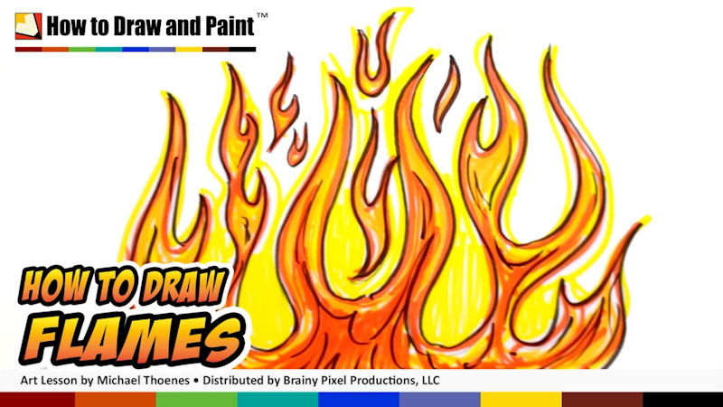 Still image from: How to Draw Flames