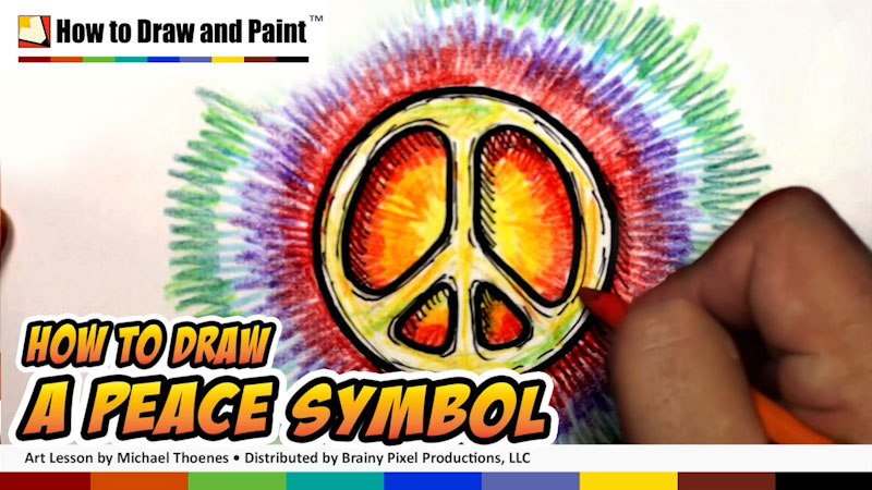 Still image from: How to Draw a Peace Symbol