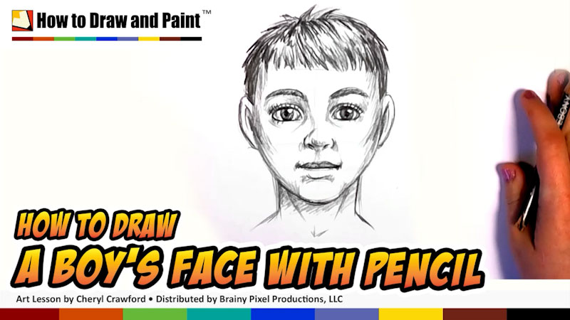 Still image from: How to Draw a Boy's Face With Pencil