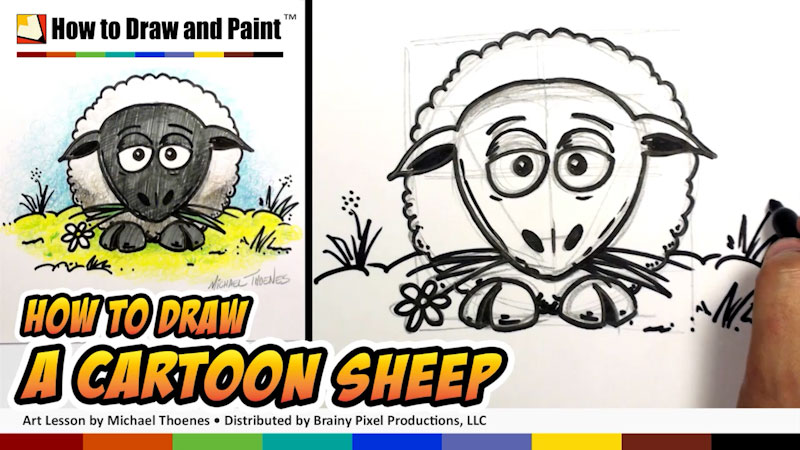 Still image from: How to Draw a Cartoon Sheep