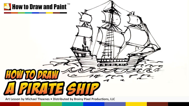 Still image from: How to Draw a Pirate Ship