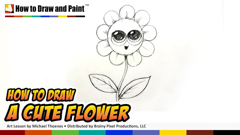 Still image from: How to Draw a Cute Flower