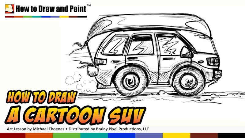 Still image from: How to Draw a Cartoon SUV