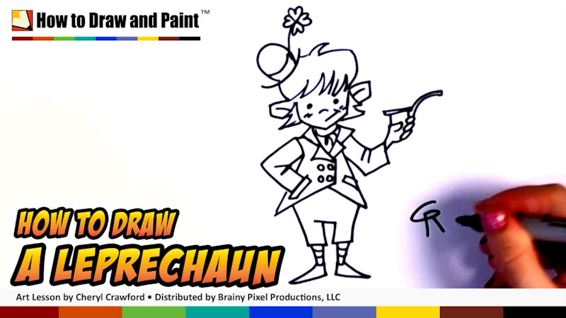Still image from: How to Draw a Leprechaun
