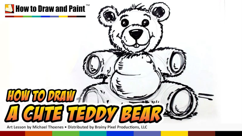Still image from: How to Draw a Cute Teddy Bear