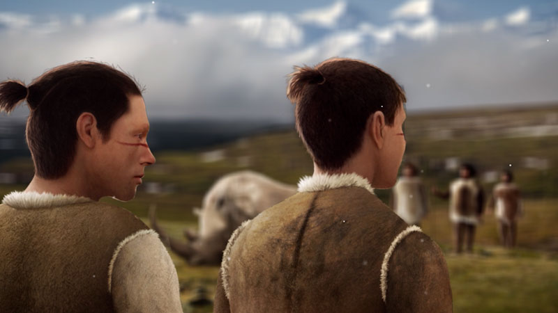 Still image from: Eons: How Humans Lost Their Fur
