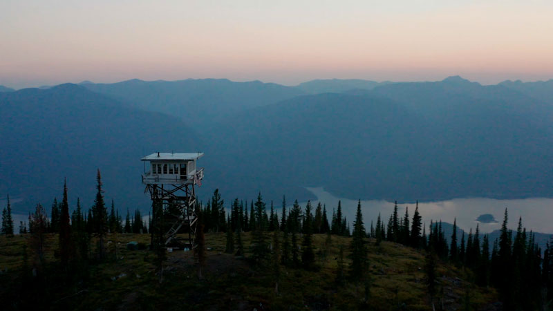 Still image from: Overview: Meet the Fire Lookout of Big Sky Country