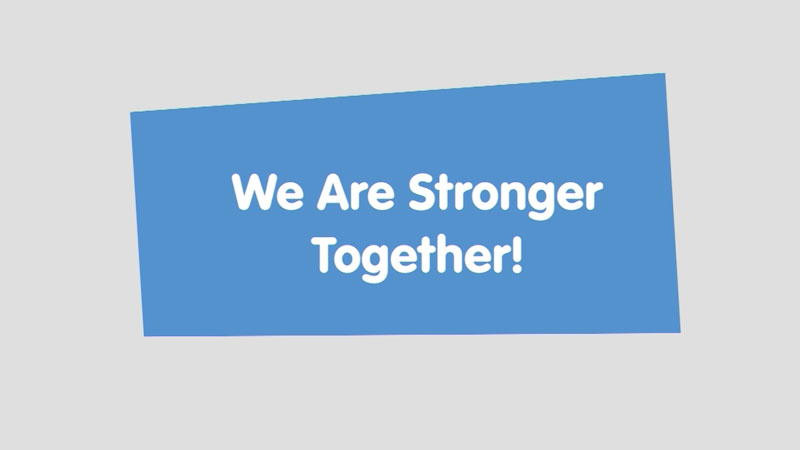 Still image from: Let's Learn: We Are Stronger Together