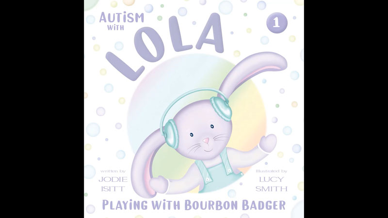 Still image from: Autism With Lola: Playing With Bourbon Badger