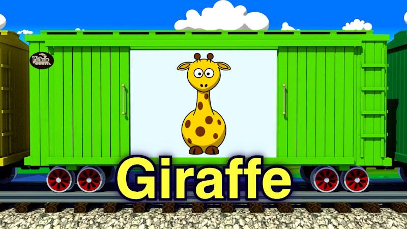 Still image from: PicTrain: Cartoon Zoo Animals