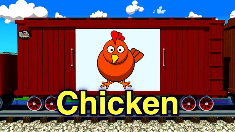 Still image from: PicTrain: Cartoon Farm Animals