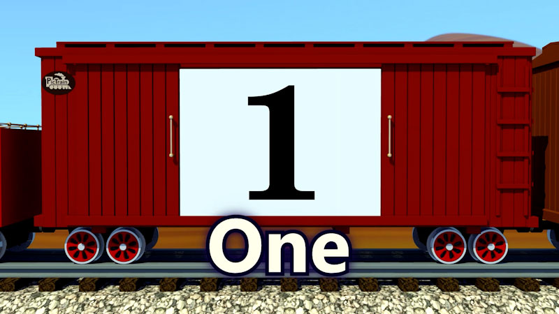 Still image from: PicTrain: Counting by 1's