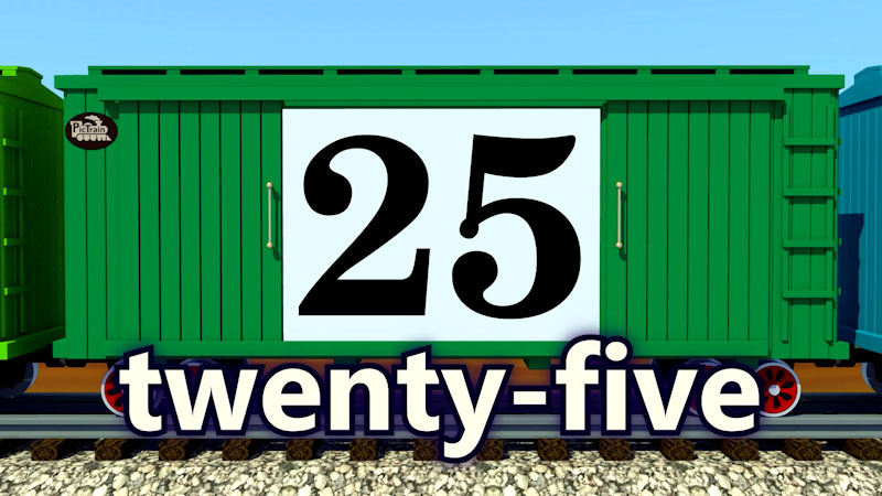 Still image from: PicTrain: Counting by 5's