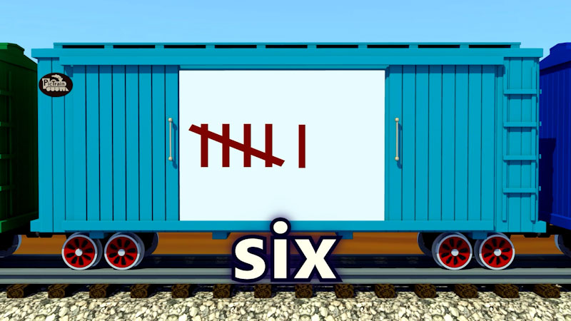 Still image from: PicTrain: Counting Tally Marks