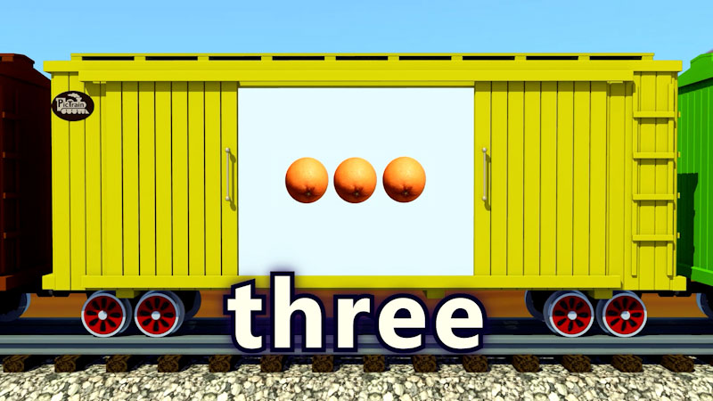 Still image from: PicTrain: Counting Oranges