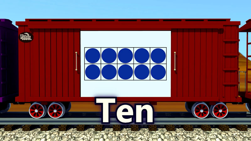 Still image from: PicTrain: Counting 10's