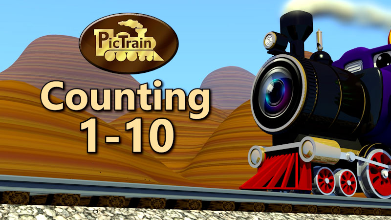 Still image from: PicTrain: Counting 1-10