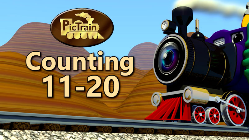Still image from: PicTrain: Counting 11-20