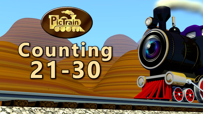 Still image from: PicTrain: Counting 21-30