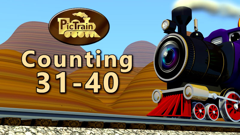Still image from: PicTrain: Counting 31-40